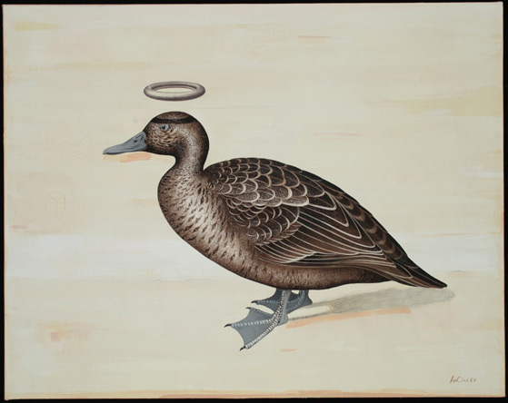 Good Duck, Oil on Canvas/Collage